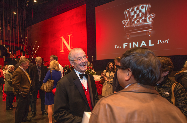 Faculty, students, staff and alumni were invited onto the Lied Center's stage following the program.