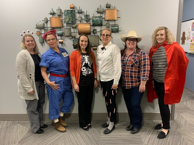 Members of the Office of Institutional Equity and Compliance celebrated the launch of the Combined Campaign with a Halloween costume contest on Oct. 31. Campus units are encouraged to host events and promotions to raise awareness about the giving campaign.