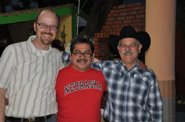 (L-R) Ted Hamann with colleagues Víctor Zúñiga and Juan Sánchez García.